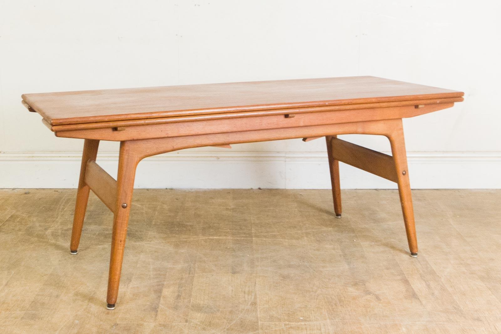 vintage retro trioh metamorphic teak coffee table dining table ebay. Black Bedroom Furniture Sets. Home Design Ideas