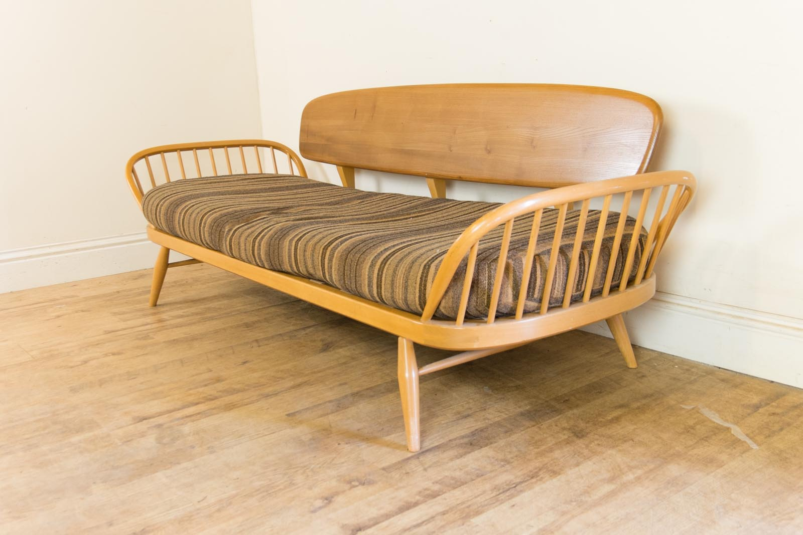 Vintage Retro Ercol Light Elm Day Bed Studio Couch Sofa Blonde Ebay